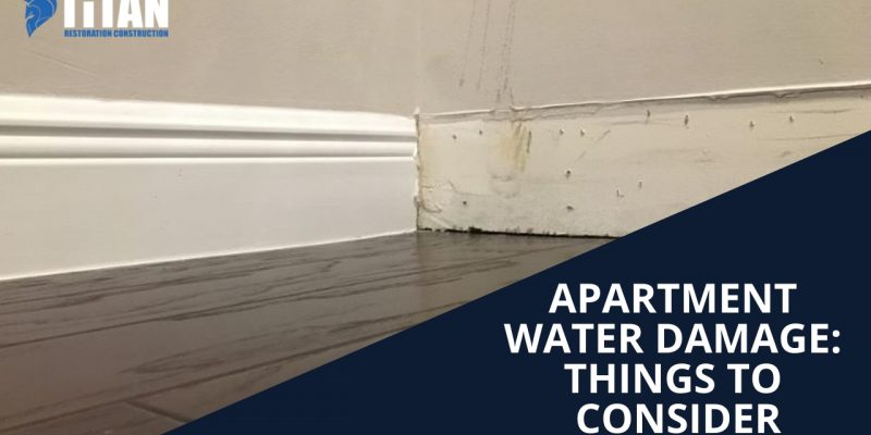 Apartment water damage: Things to consider