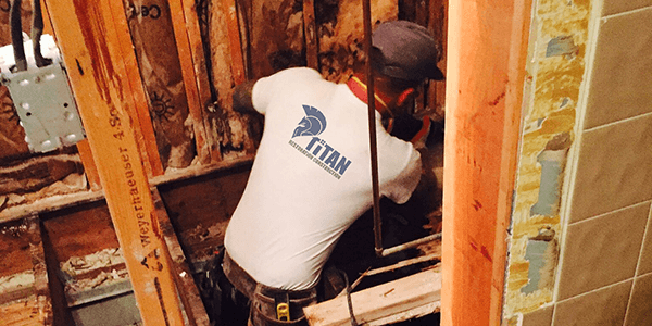 Titan Restoration Specialist Cleaning Mold in a House